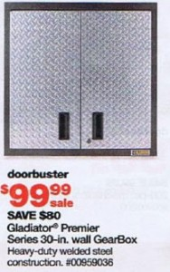 Sears Black Friday 2010 DoorBuster Gladiator Premier 30 inch GearBox