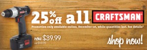 Orchard Supply & Hardware Craftsman Discount 12-1-2010