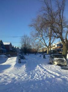 Snowed-in Brooklyn Streets