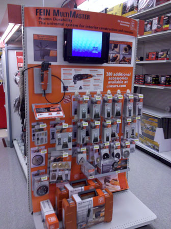Fein MultiMaster Display Pops up at Sears