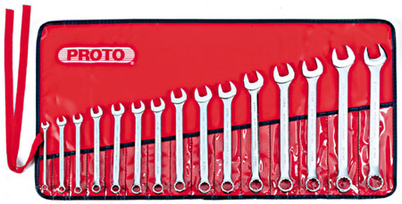 Stanley Proto 15 Piece Metric Combination Wrench Set for $120!