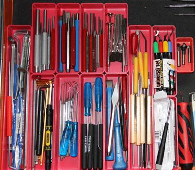 Small Tool & Parts Drawer Organization