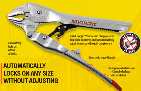 C.H. Hanson Automatic Locking Pliers and Clamps