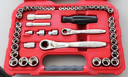 Craftsman MAX AXESS Mechanics Tool Set with Pass-Thru Ratchet and