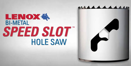 Lenox Bi-Metal Speed Slot Hole Saw for Easier Plug Removal