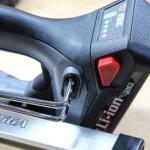 Senco Fusion Finish Nailer Battery Lock Button and Belt Clip