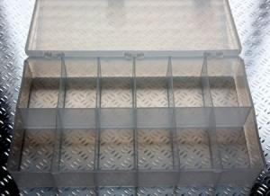 12 Compartment Plastic Organizer Box