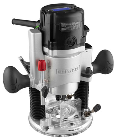 Craftsman 2-25 HP Digital Plunge Base Router