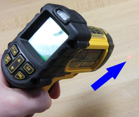 Dewalt 12V Max Infrared Thermometer Targeting Laser