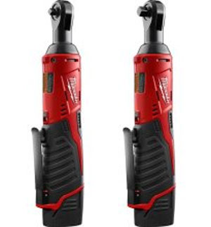 Milwaukee M12 Cordless Ratchets 1 4 and 3 8