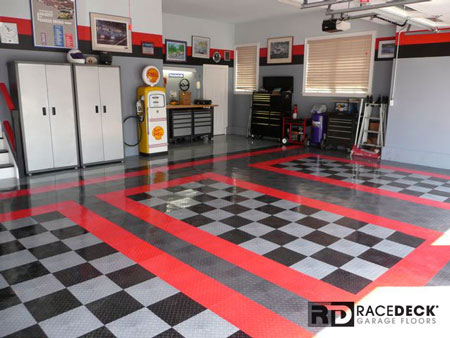 RaceDeck Garage Flooring Example - Unique Cool Edc Knives