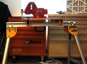 Portable Vise Support Solution with Dewalt Heavy Duty Work Stands