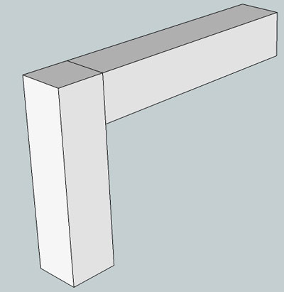 Pocket Hole Example Wood Butt Joint 1