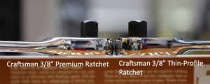 Which is Thinner, Craftsman's Premium Ratchet or Thin-Profile Ratchet?
