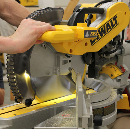 Dewalt Miter Saw Xps Work Light Is Far Better Than Any Laser