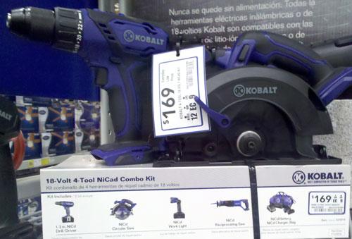 Lowes Kobalt Cordless Power Tools 4-Piece NiCad Combo Kit