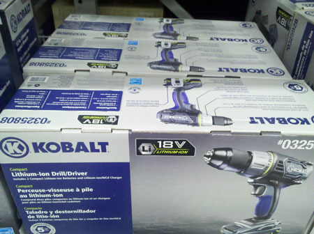 Lowes Kobalt Cordless Power Tools Compact Drill Driver Boxes