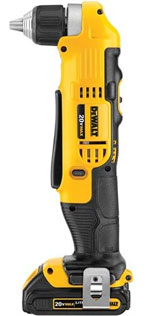 DEWALT DCD740C1 20-Volt MAX Li-Ion Compact Right Angle Drill Kit