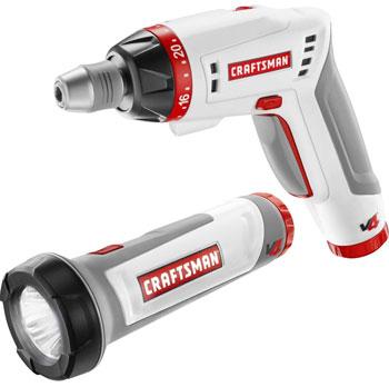 Craftsman V4 Cordless Screwdriver Flashlight Combo Kit