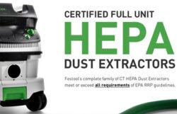 Festool Dust Extractors HEPA Fully Certified