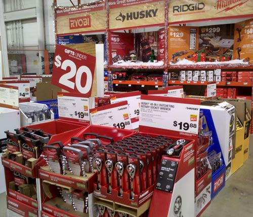 home depot holiday tool gift display - Home Depot Holiday