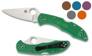 Spyderco Delica 4 Flat Ground with FRN Handles Folding Pocket Knife