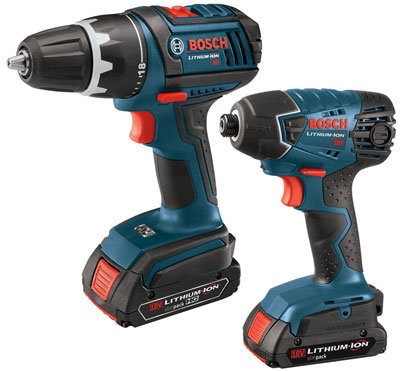 bosch 18v cordless drill impact driver newest versions for 90. Black Bedroom Furniture Sets. Home Design Ideas
