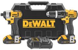 Dewalt DCK285C2 Hammer Drill Impact Driver Kit