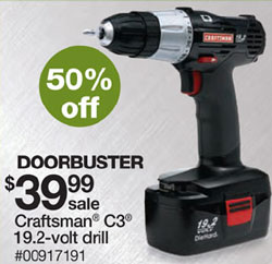 Craftsman & Sears Black Friday 2011 Tool Deals