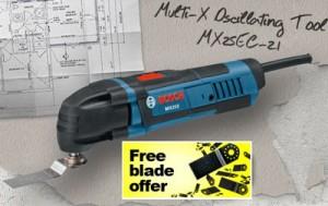 Free Bosch Multi-X Oscillating Multi-Tool Blade (No Purchase Necessary)