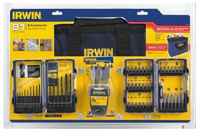 Irwin 81pc Drill And Screwdriver Bit Set 15