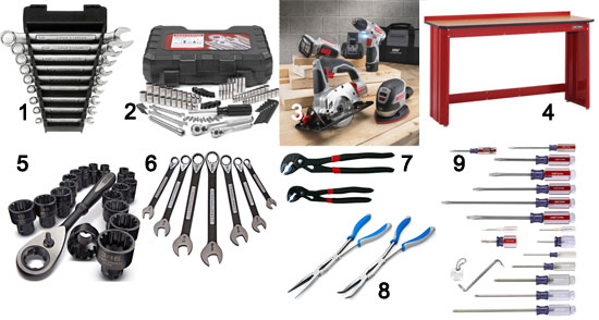 sears' tool department – great for holiday gifts and 365 days/year