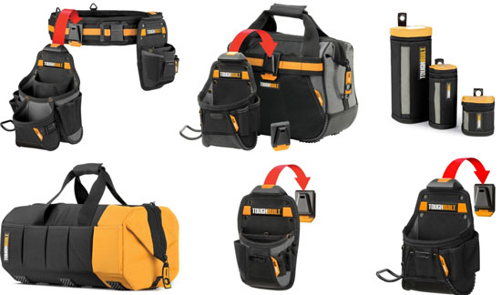 Toughbuilt Tool Pouches And Bags On
