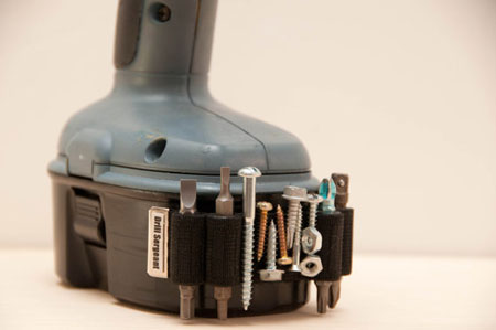 Drill Sergeant Mounted to Cordless Drill Battery