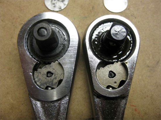 Craftsman Raised Panel Ratchet Comparison Internals