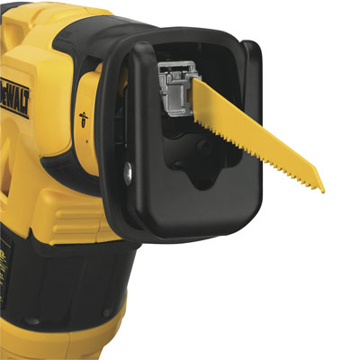 how to change blade on dewalt reciprocating saw