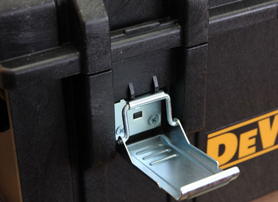 Dewalt Large Tough Case Metal Latch Closeup