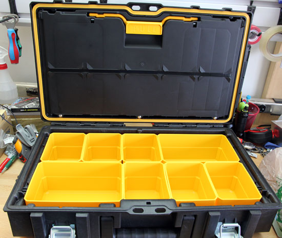 Dewalt Small Tough Case Inside Compartment