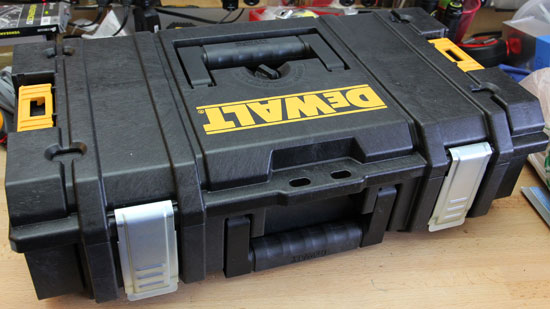 'Dewalt Small Tough Case' from the web at 'http://toolguyd.com/blog/wp-content/uploads/2012/02/Dewalt-Small-Tough-Case.jpg'