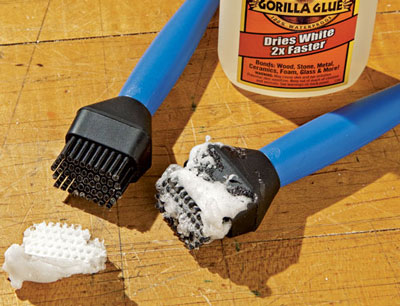 Rockler Silicone Glue Brush – Non-Stick and Reusable