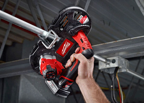 Milwaukee M12 Band Saw Overhead Use