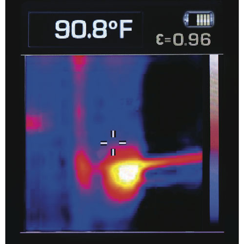 Dewalt DCT416 Thermal Imaging Camera Heat Map