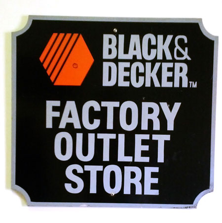 Black & Decker Factory Outlet Store Sign