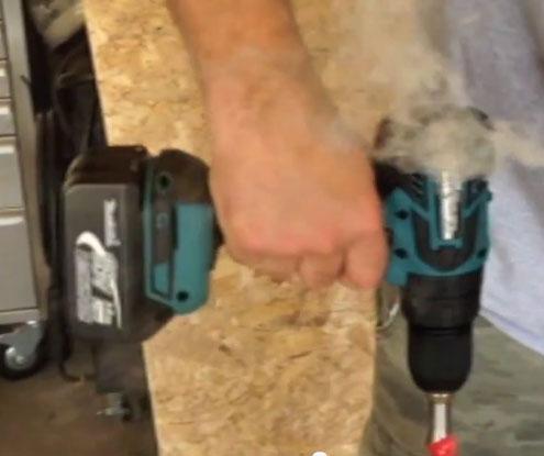 Makita Brushless Hammer Drill Smoking
