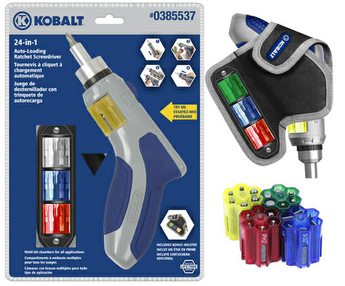 kobalt 24 in 1 auto loading ratcheting screwdriver. Black Bedroom Furniture Sets. Home Design Ideas
