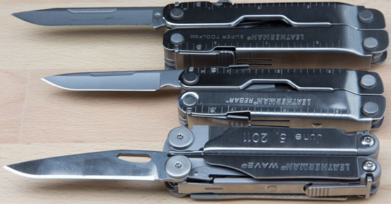 Leatherman Knife Blade Rebar vs Wave and SuperTool 300