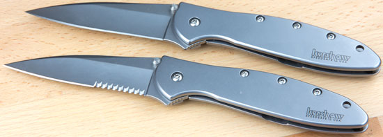 Kershaw Leek Onion Knife Blades Deployed Front