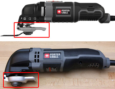 Porter Cable Corded Oscillating Multi-Tool Blade Change Comparison