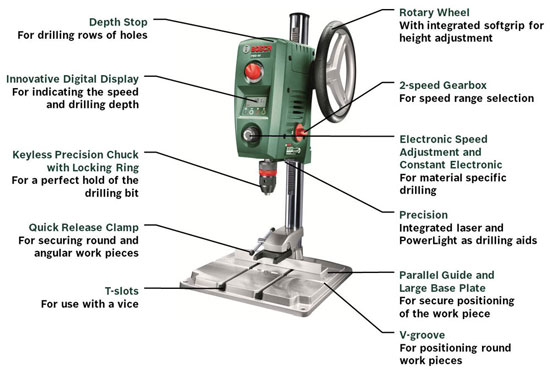 Bosch Drill Press Features
