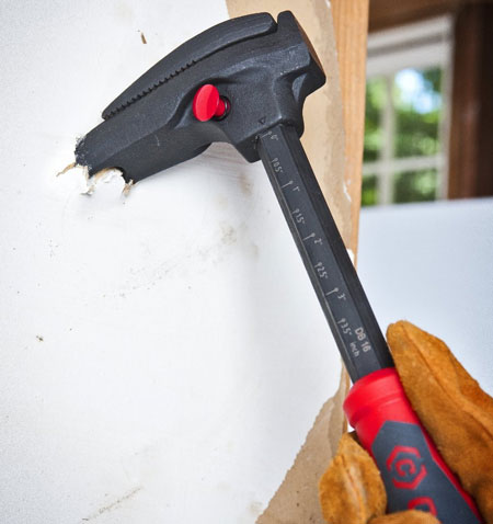 Crescent Code Red Nail Puller Pry Bar Ripping Drywall